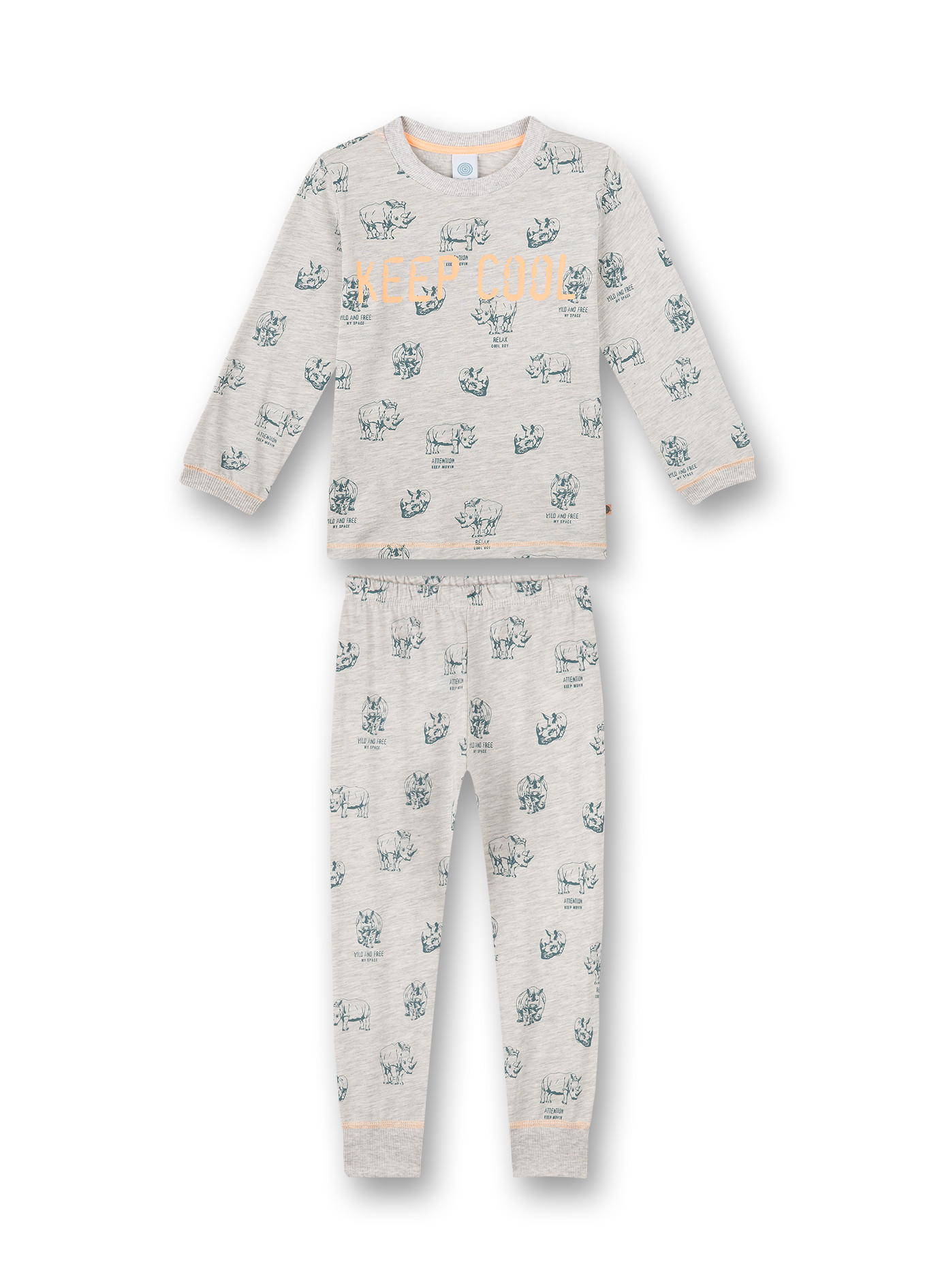 "Sanetta Pyjama Lange Mouw Neushoorns ""Keep Cool"""