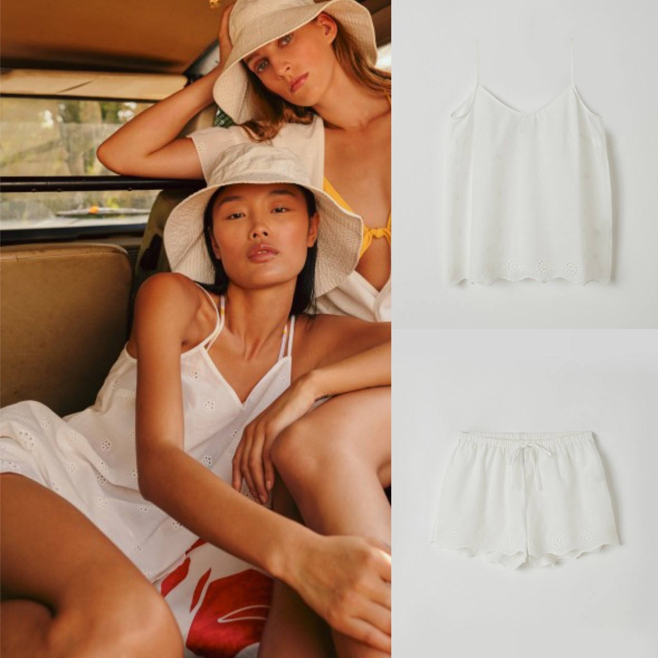Lords & Lilies Top + shortje broderie