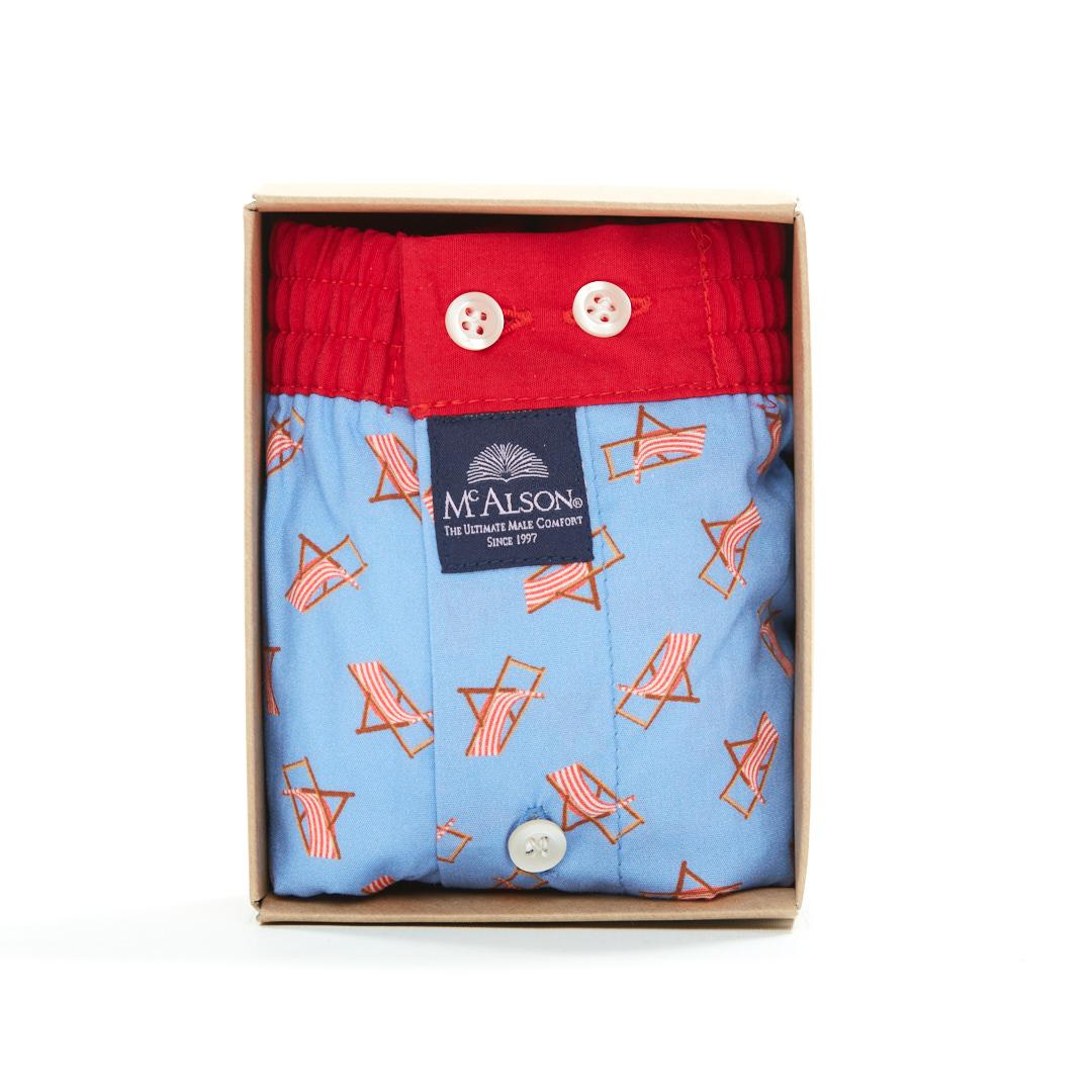 Mc Alson Boxer Heren strandstoelen blauw-rood
