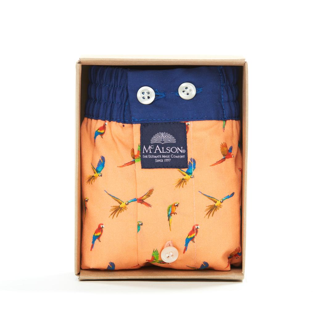 Mc Alson Boxer Heren papegaaien oranje
