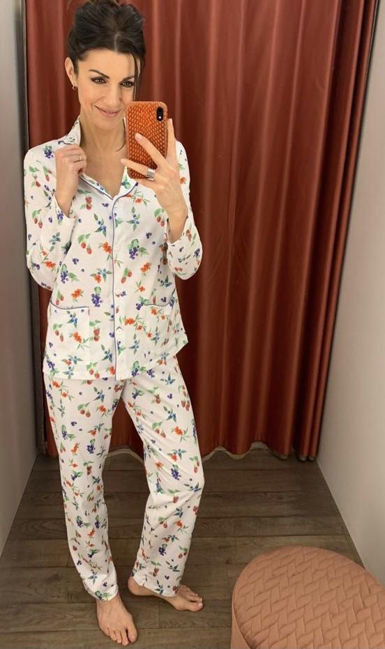 Jaloe Lampone Pyjama Doorknoop, Bessen, Frambozen