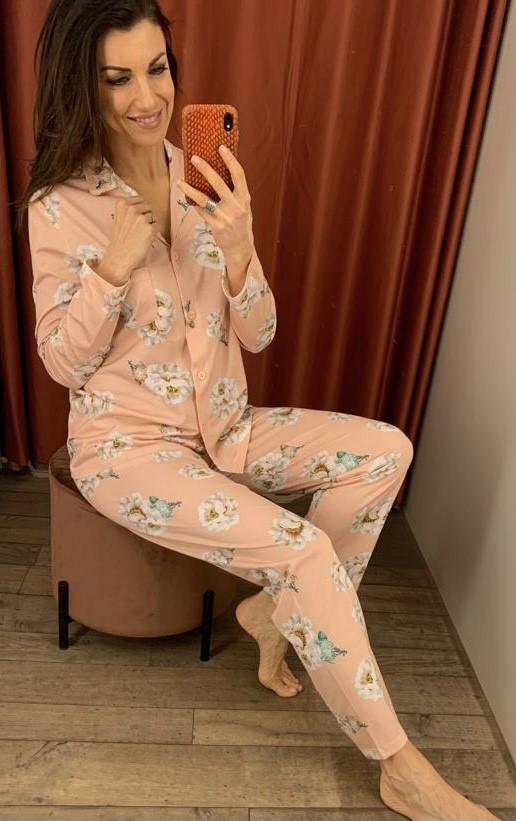 Jaloe Profumi Pyjama Doorknoop, Bloemen