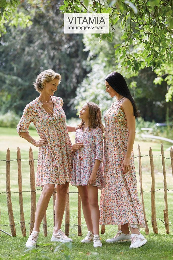 Vitamia Lang kleed gebloemd dames