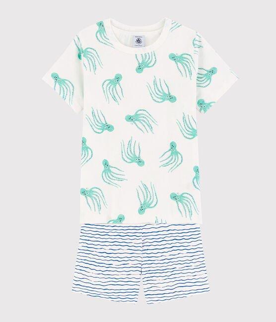 Petit Bateau T-Shirt Octopussen + Short Gestreept