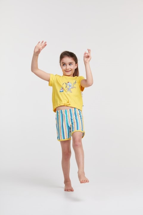 Woody Meisjes-Damespyjama Octopus