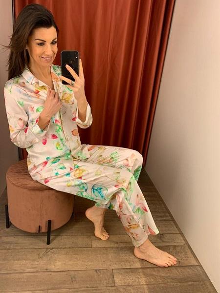 Lunadiseta Pyjama 100% zijde met print
