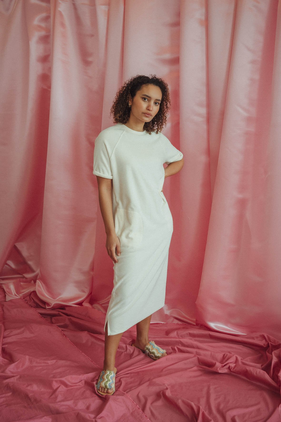 Love Sundaily Real Largo kleed 3/4 met korte mouw