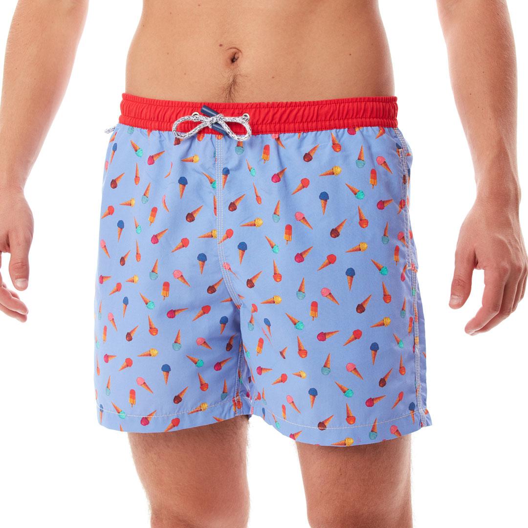 Mc Alson Zwemshortijsjes blauw-rood