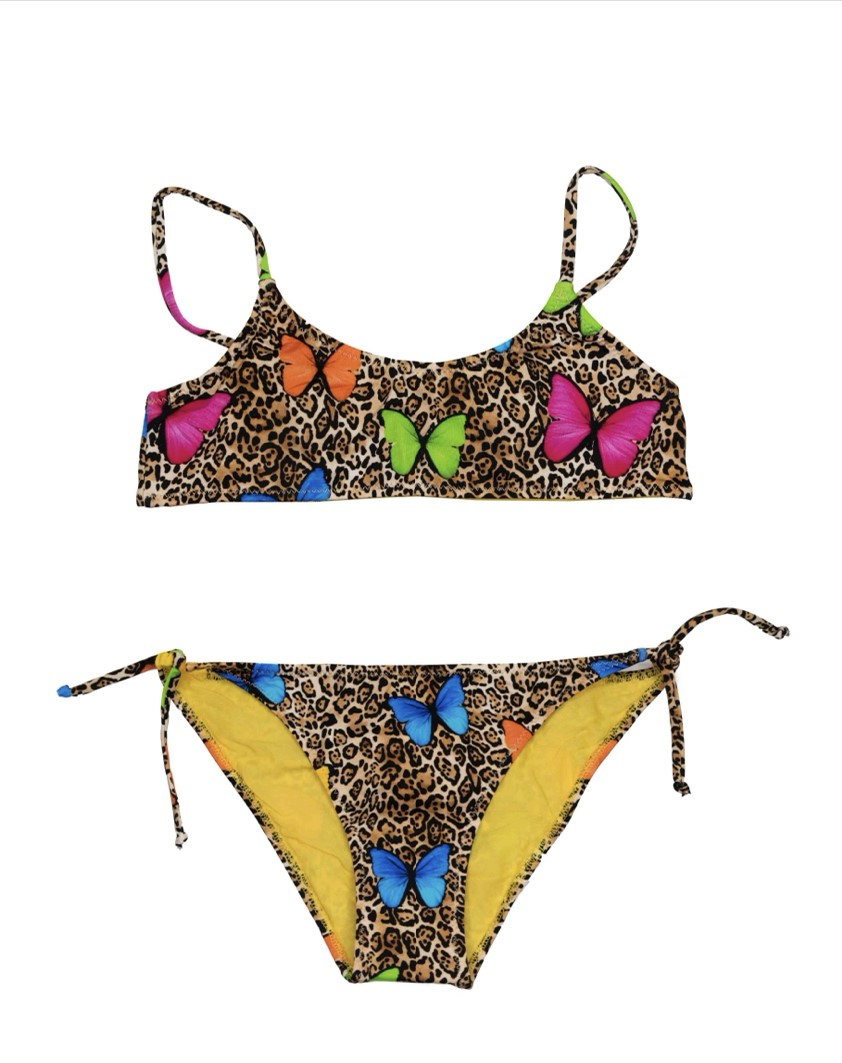 Saint Barth Bikini-set Leopard, Gekleurde Vlinders