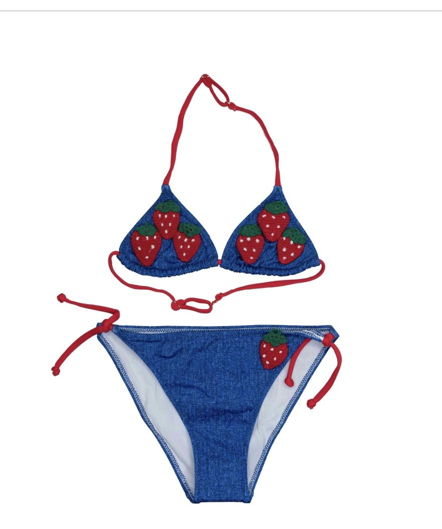 Saint Barth Bikini-set Jeans met aardbeien