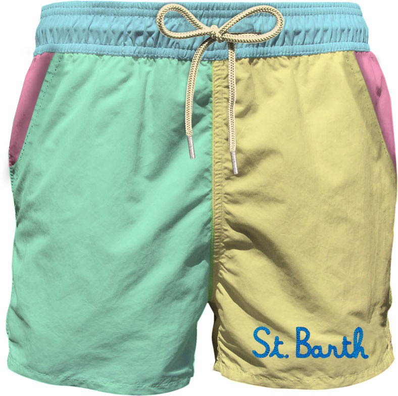Saint Barth Zwemshort Los, Pastelkleuren