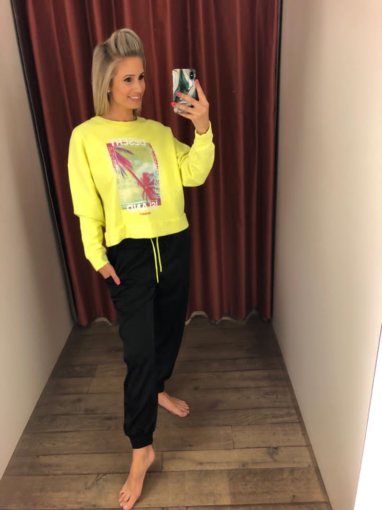 Twin-Set Sweater Fluo + Lange Broek