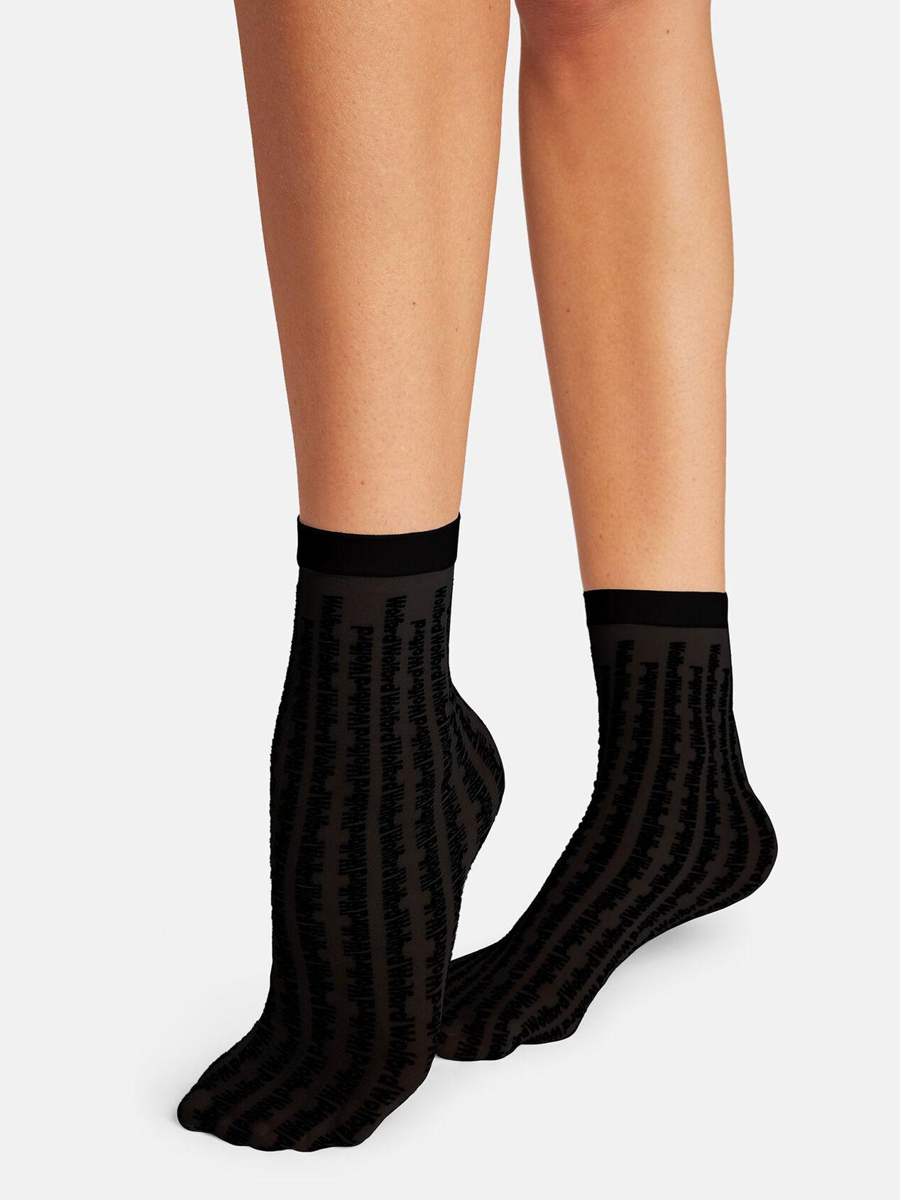 Wolford Logo Pattern Socks, 20 Den, Logo-Design