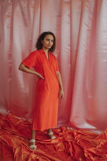 Love Sundaily Loeches Kleed polokraag