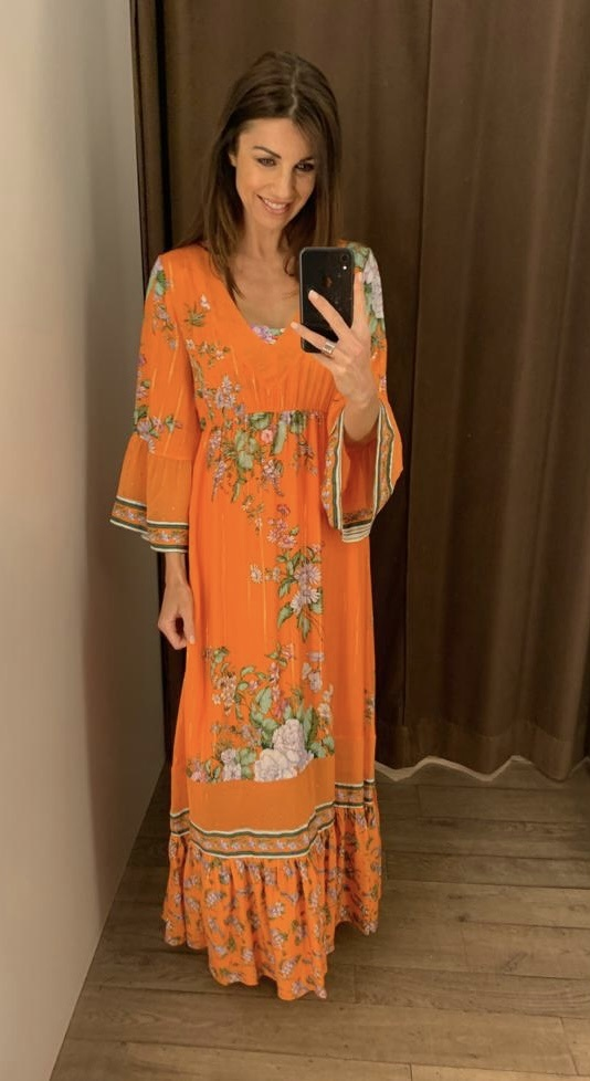 Raffaela d'Angelo lang kleed, bloemenprint