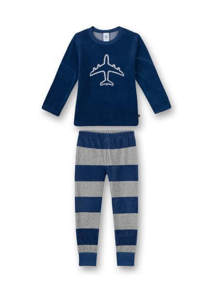 Sanetta Pyjama Vliegtuig, gestreepte broek, Eponge