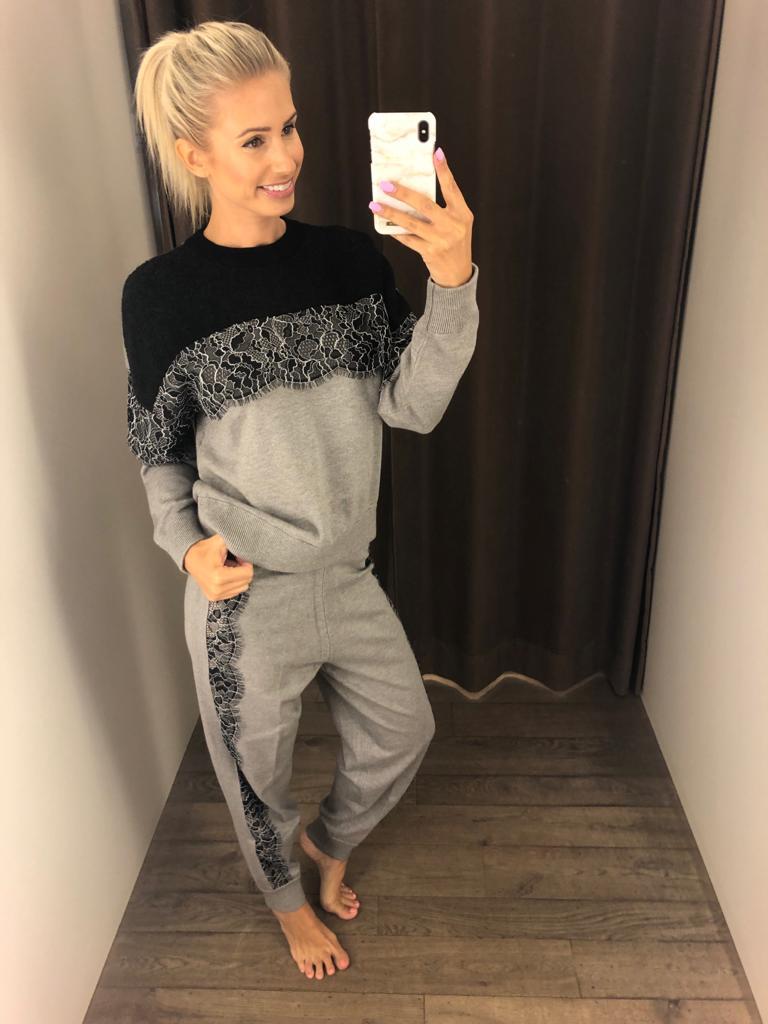 Twin-Set Sweater + Lange Broek, Boord kant