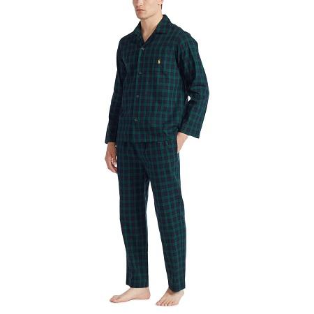 Ralph Lauren Herenpyjama Doorknoop, ruiten
