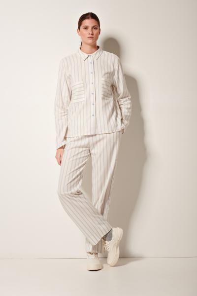Pluto Fran Pyjama Doorknoop, Gestreept