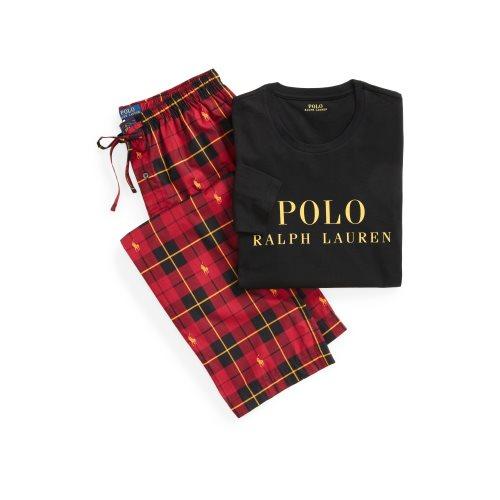 Ralph Lauren Longsleeve logo + Broek Geruit