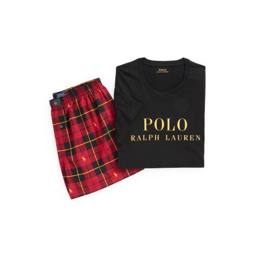 Ralph Lauren T-shirt logo + Short Geruit