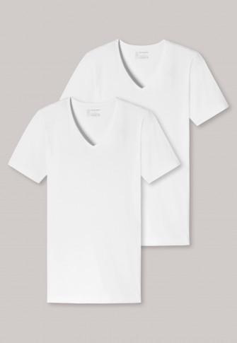 Schiesser 95/5 T-shirt V-neck  2-Pack
