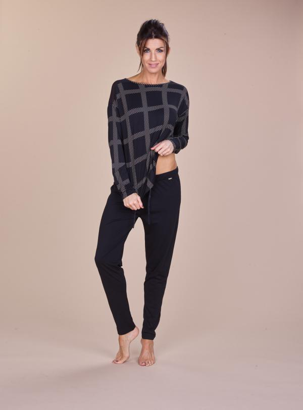 Cyell Essentials Black Damespyjama-set