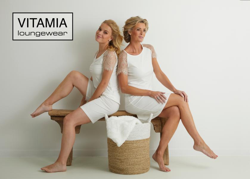 Vitamia Lace Slaapkleed korte mouw