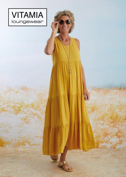 Vitamia Yellow Lang kleed linnen