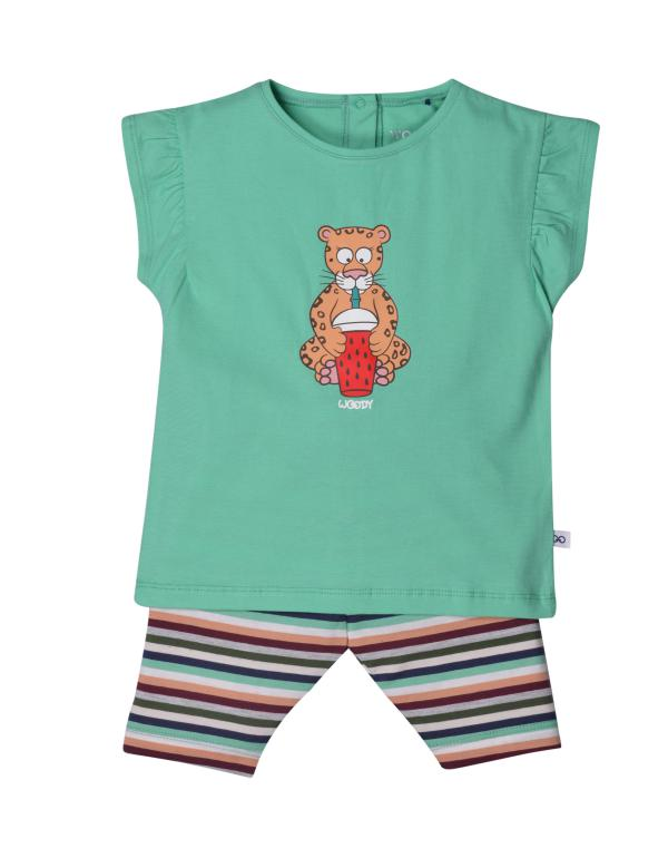 Woody Panter Pyjama baby meisjes