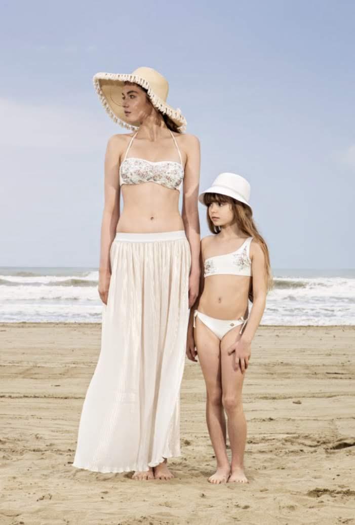 Twin-Set Pailletten Bikinisetje meisjes