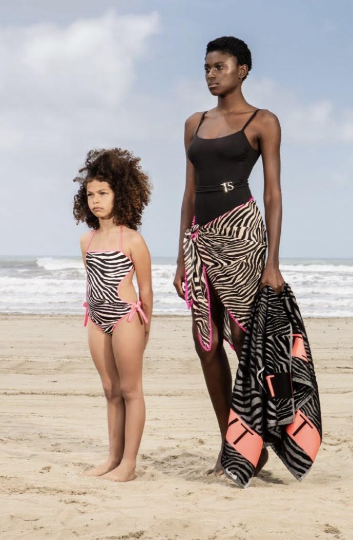 Twin-Set Zebra Meisjesbadpak