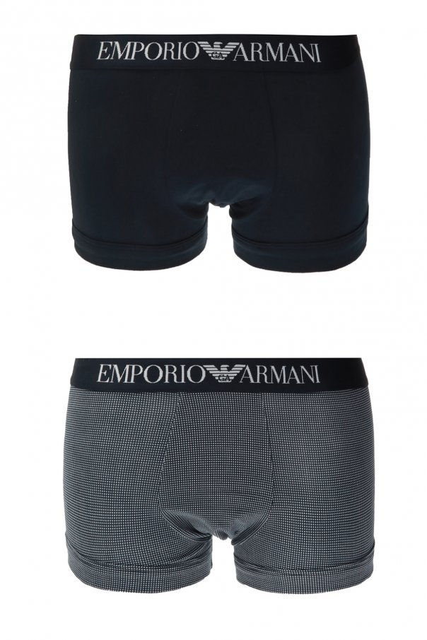 Armani Stretch Cotton 2 Pack Boxers