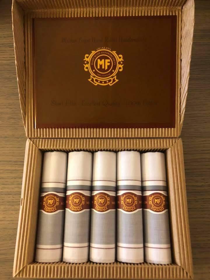 Mileta Zakdoeken Heren in sigarendoos