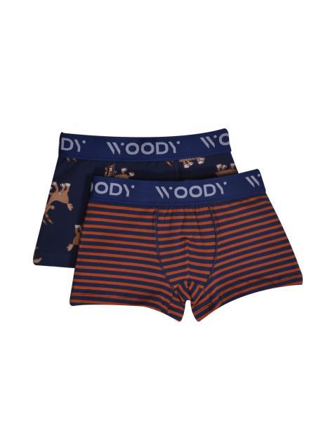 Woody Colours Jongensboxershort DUOpack geit