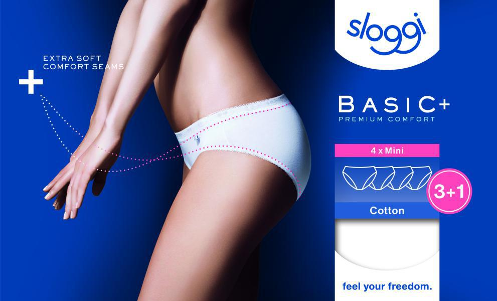 Sloggi Dames Basic Mini 3+1gratis