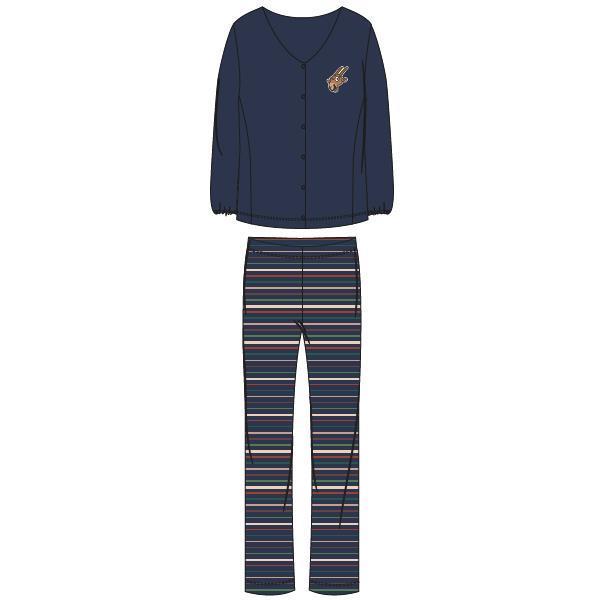 Woody Geit Pyjama Dames doorknoop