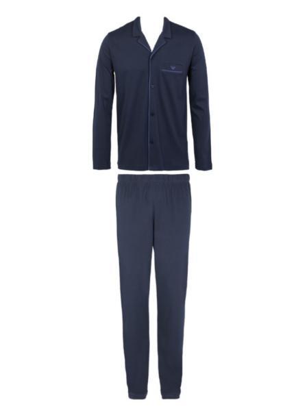 Armani Basic Pyjama heren doorknoop