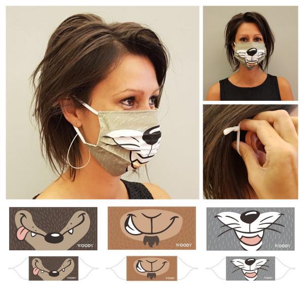 Woody Wolf mondmasker