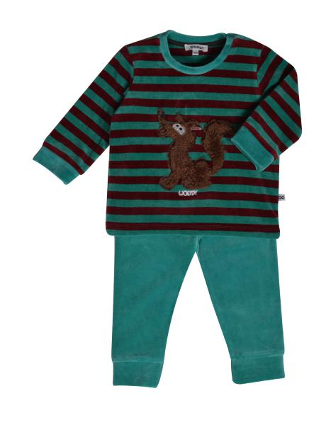 Woody Wolf Pyjama BABY jongens velours