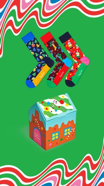 Happy Socks Happy Holidays Giftbox 3 paar 36-40