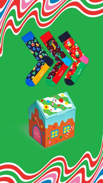 Happy Socks Happy Holidays Giftbox 3 paar 41-46