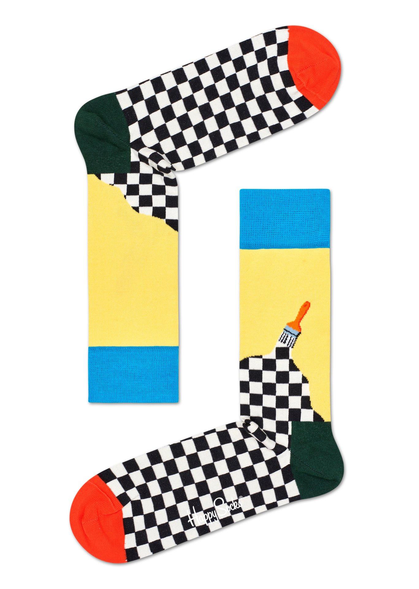 Happy Socks Paint Socks 1 paar kousen 41-46