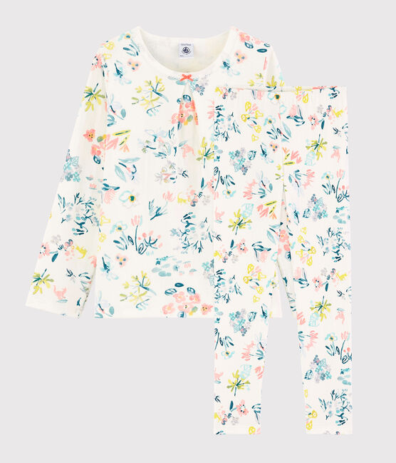 Petit Bateau Bloemen Pyjama meisjes