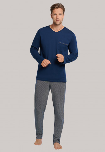 Schiesser Comfort uni Pyjama Heren