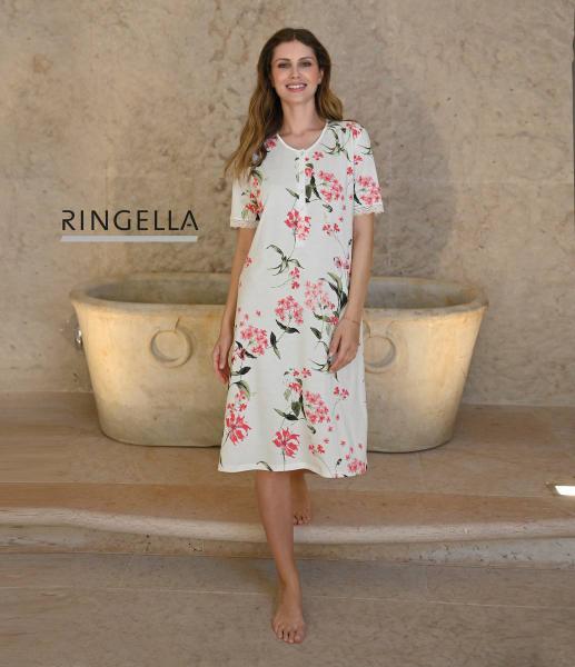 Ringella Floral Slaapkleed korte mouw 38-52