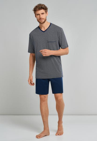 Schiesser Comfort uni Pyjama Heren kort