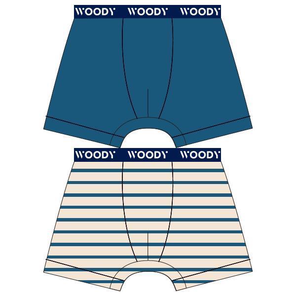 Woody Kleur Jongensboxershort DUOpack streepjes