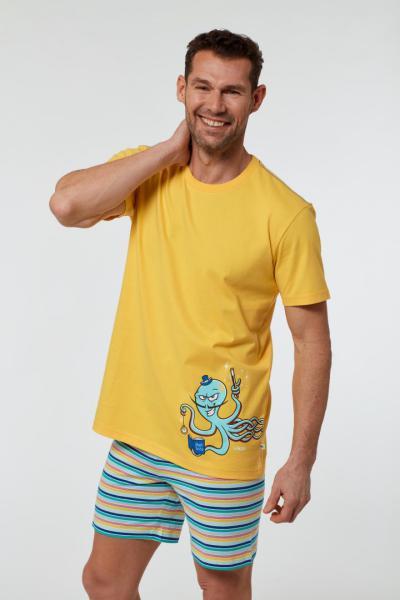 Woody Octopus Heren Pyjama kort
