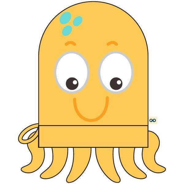 Woody Octopus Washandje